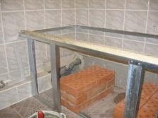 Последовательность работ закрепления ванны на место