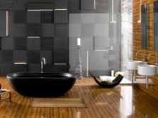 Расположение овальной ванны