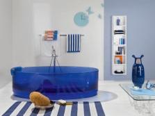 Где разместить прозрачную ванну в ванной комнате