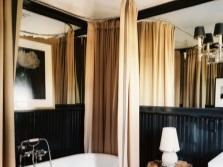 Текстильная шторка для ванны