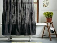 Черная шторка на ванну