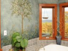 Роспись стен в ванной влагостойкими красками