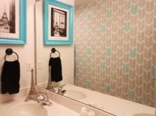 Трафарет для ванной комнаты