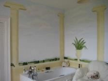 Греческий интерьер в ванной комнате
