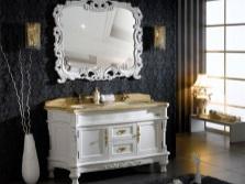Мебель в ванной комнате в стиле барокко
