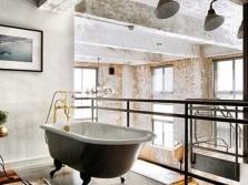 Слить лофт для просторной ванной