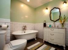 Ванная в ретро стиле с зеркалом