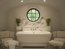 Мебель в ванной комнате в стиле арт-деко