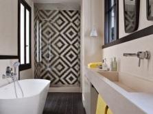 Характерные черты для стиля арт-деко в ванной