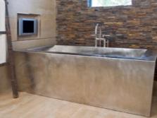 Прямоугольная ванна из нержавеющей стали для ванной