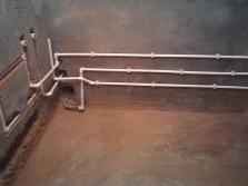 Этапы работ по замене труб водопровода в ванной