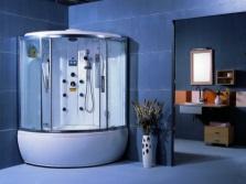 Гидробокс угловой с ванной в просторную ванную комнату