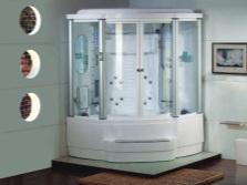 Гидробокс с овальной чашей ванны вместо поддона