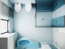 Душевая кабина в маленькой ванной - вид сверху