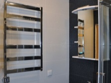 Электрический хромированный полотенцесешитель для ванной