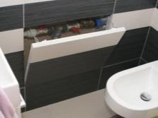 Сантехнический люк невидимка в ванной комнате и его монтаж