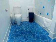 3D-плитка для пола ванной комнаты - эффект воды