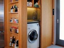 Шкаф из дерева для стиральной машины