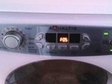 Ошибка системы слива F05 стиральной машины аристон