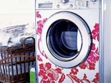 декорированная узкая стиральная машина