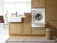 нестандартный вариант встройки стиральной машины