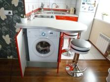 стиральная машина в кухне