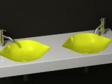 дизайнерская двойная раковина