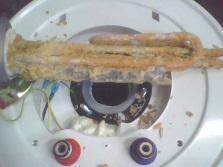 ТЭН водонагревателя, пораженный накипью