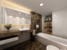 дизайн ванной комнаты с зеркалом