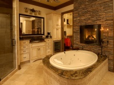 дизайн ванной комнаты с круглой ванной