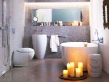 дизайн ванной комнаты со свечами