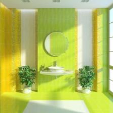 Желто-зеленая ванная