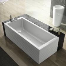 Прямоугольная квариловая ванна с гидромассажем