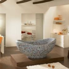 Ванная украшенная мозаикой