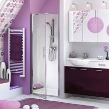 Мебель в сиреневой ванной