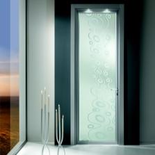 Двери с пескоструйным рисунком в ванную