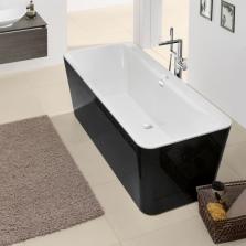 Черная ванна из кварила
