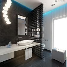 Стильная перегородка в ванной