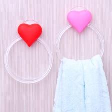 Держатель для полотенец в виде сердца