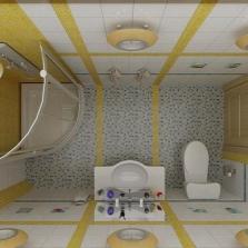 План маленькой ванной комнаты с душевой кабиной
