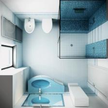 Душевая кабина в маленькой ванной - вид <strong>ванные</strong> сверху