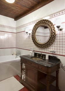 Приемы зрительного увеличения ванной комнаты