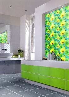 Салатовая зеленая ванная