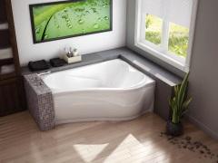 Асимметричная ванна: оригинальное решение для нестандартных интерьеров