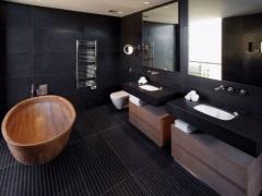 Черная ванная комната - грамотно дозируем цвет