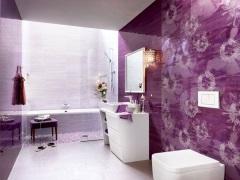 Фиолетовая ванная комната - современный и стильный дизайн