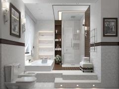 Дизайн и интерьер ванной комнаты с душевой кабиной
