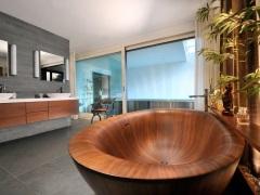 Деревянная ванна - эксклюзив в вашей ванной