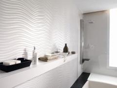 Белая плитка для ванной комнаты: эффектный дизайн - это просто!