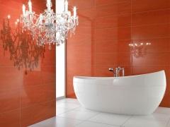 Красная керамическая плитка для ванной: дизайн для ярких личностей